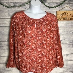 St. John's Bay Red Floral Blouse Size XL